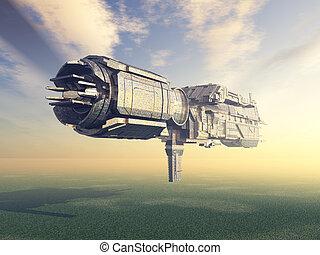 extranjero, nave espacial