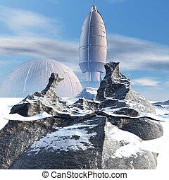 extranjero, ovni, vehículo espacial