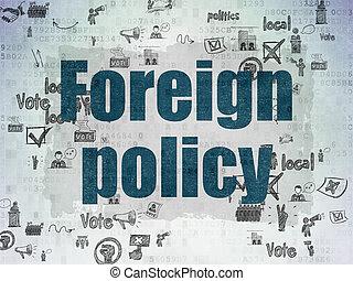 extranjero, papel, plano de fondo, digital, política, política, concept: