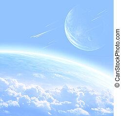 extranjero, planeta, cielo