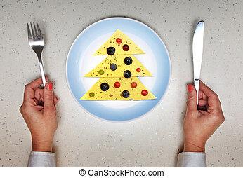festive dish served on Christmas
