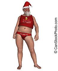 Extraordinary Santa - 3d render of a extraordinary santa