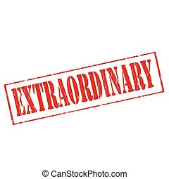 Extraordinary - Grunge rubber stamp with text...