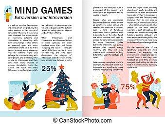 extraversion, introversión, infographics