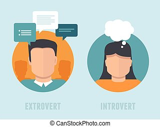 extraversion-introversion, apartamento, estilo, vetorial, infographics