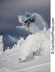 extrem, snowboarder
