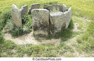 extremadura., dolmen, cerca, del, marco, magacela, españa