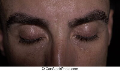 Extreme close up detail of hazel eyes