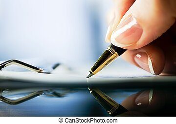 extreme close-up of a pen