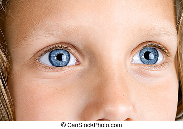 Extreme Close up of girls eyes.