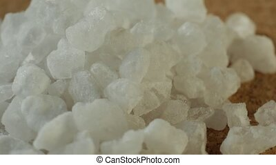 Extreme close up of sea salt crystals.