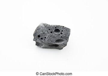 basalt rock isolated over white