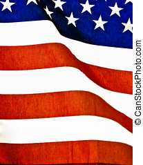 Extreme closeup American Flag