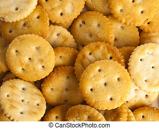 extreme closeup of a salted cookies stack