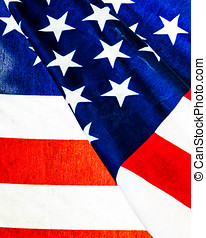Extreme closeup of American Flag