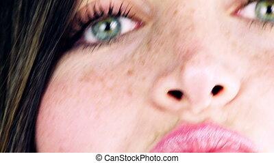 Extreme closeup of beautiful eyes