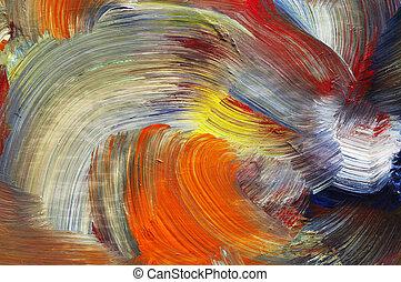 run colors - craftsmanship - Extreme closeup of brush...