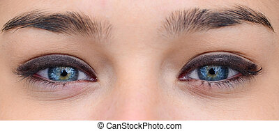Extreme closeup of woman eyes