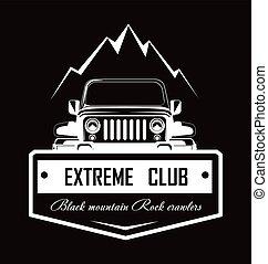 Extreme club Black mountain Rock crawlers promo logotype