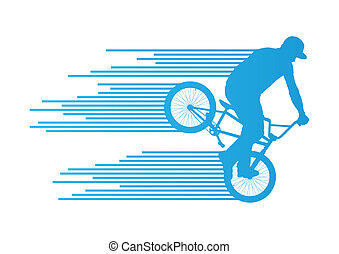 Extreme cyclists bicycle rider active teenager sport...