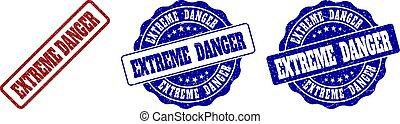EXTREME DANGER Grunge Stamp Seals