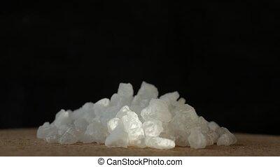 extreme dichte omhooggaand, van, zee zout, crystals.