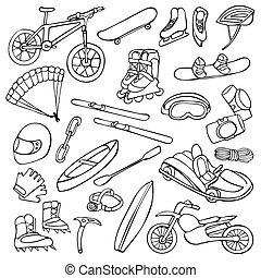 Extreme doodle set