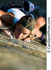 Extreme hobby - Vertical image of girl training...