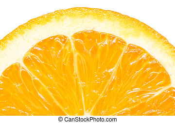 Orange Slice Peel Isolated - Extreme Macro Of Orange Slice...