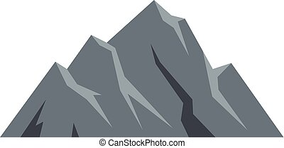Extreme mountain icon. Flat illustration of extreme mountain vector icon isolated on white background