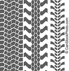 Extreme Mud Tyres Seamless Prints. Vector Illustration