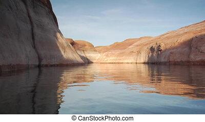 extreme slow-motion Lake Powell canyons Utah one