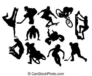 Extreme Sport Activity Silhouettes