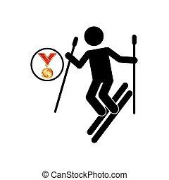 extreme sport avatar ski design