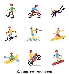 extreme sport, ikonok, állhatatos