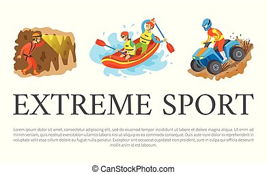 Extreme Sport Speleotourism and Rafting Water