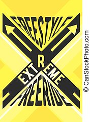 Extreme sport stamp