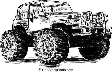 Extreme Sports - 4x4 SUV Vector