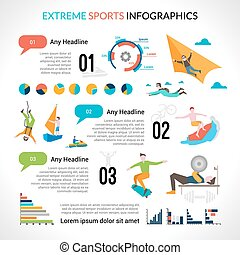 Extreme Sports Infographics - Extreme sports infographics...