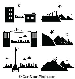 Extreme Sports Pictogram Set 1