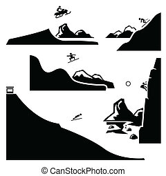 Extreme Sports Pictogram Set 4 - A set of human pictogram...