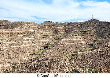 Extreme terrain in mountains