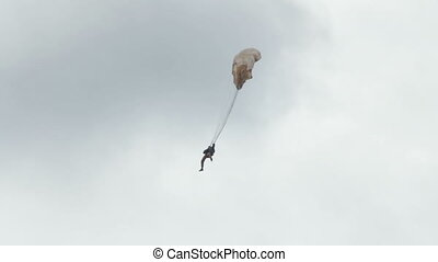 Extreme ultra low altitude parachute jump