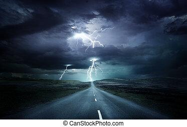 Extreme Weather Lightning Storm