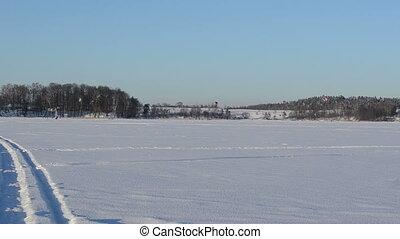 extreme winter sport lake