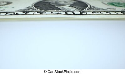 extremely close-up, detailed. one dollar banknote. business and finance concept.