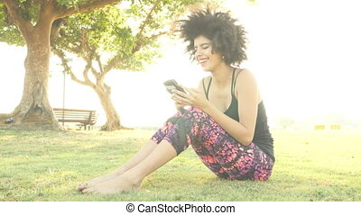 Extremely happy and positive reaction to text message - An...