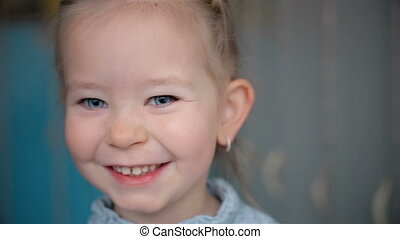 Extremely sincere smile of a small child HD