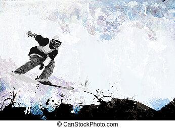 extremo, esquema, atletismos inverno