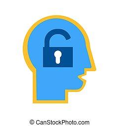 Extrovert mindset, human temperament flat vector icon. ...